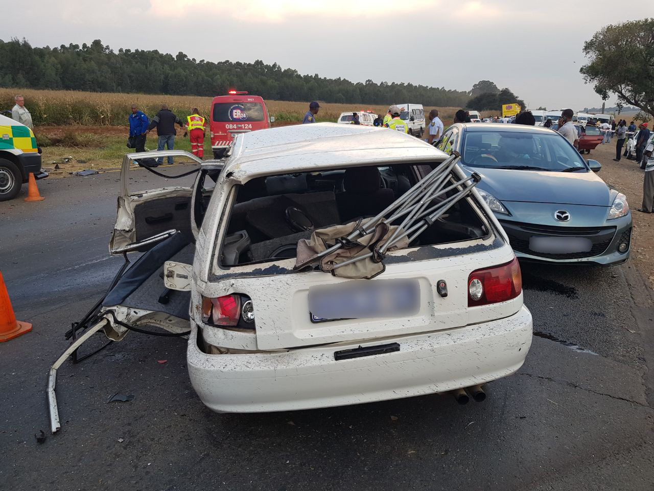 R23  At least 15 injured after taxi and vehicle collide on the R23 R23
