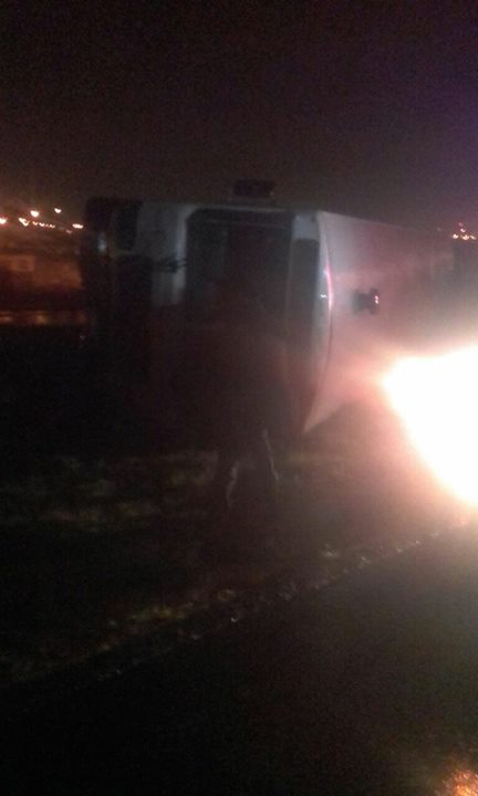 34117262_1679554185426733_7458357571615719424_o  Unconfirmed…..  Bus overturned on the R300 just before Stock Road coming from … 34117262 1679554185426733 7458357571615719424 o