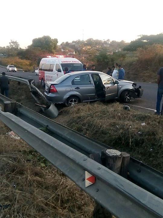36396820_1992559044096013_7071945458553192448_n  Vehicle Crashes After Avoiding Pedestrian: R102 Verulam – KZN   A Chevrolet Aveo… 36396820 1992559044096013 7071945458553192448 n
