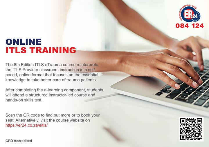 36700104_1834417279952961_4652443806367481856_o  Online ITLS Training now available through ER24's Training Academy. See picture … 36700104 1834417279952961 4652443806367481856 o