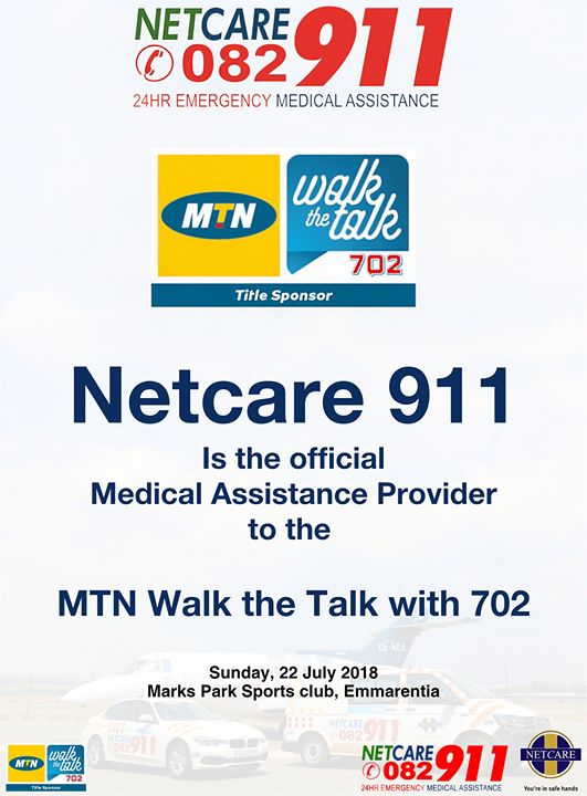 36703839_1863625823658545_8640067915590139904_o  Netcare 911 will be the official emergency medical assistance providers to the  … 36703839 1863625823658545 8640067915590139904 o
