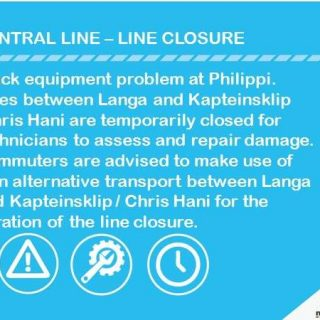 36876743_2550713578287546_8569977571192602624_n  #Trainreport  #CentralLineCT :  Track equipment problem at Philippi . 36876743 2550713578287546 8569977571192602624 n 320x320