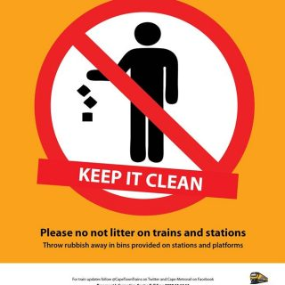 36959187_2553337394691831_3033967328845889536_o  #BeTrainSmart KEEP IT CLEAN. Throw rubbish away in bins provided on stations an… 36959187 2553337394691831 3033967328845889536 o 320x320