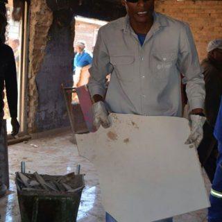 #EskomNorthWest employees lending helping hands in renovating a burnt house in … 37329519 2313683358658395 8829015849202352128 o 320x320