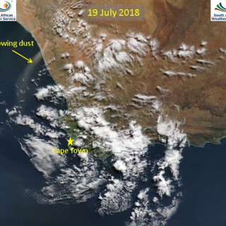 9 July 2018 – The blowing dust between Hondeklip Bay and Port Nolloth clearly vi… 37547966 837554376447887 7479430807178706944 n 320x320