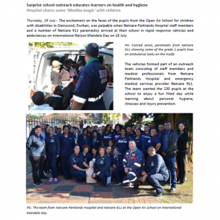 Netcare Parklands Hospital  911 – Surprise school outreach educates learners on … 37573089 1882755081745619 8490383589450448896 n 320x320