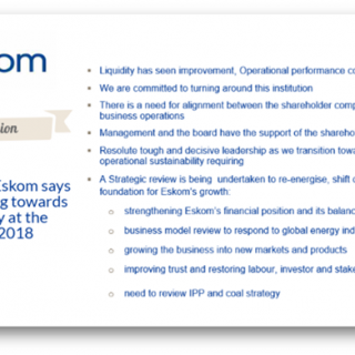 """In Conclusion  #Eskom says """"It is transitioning towards Sustainability"""" at the  … 37631216 2321524974540900 170919469084835840 o 320x320"""