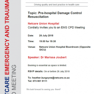 CPD Invitation Topic: Pre-Hospital Damage Control Resuscitation 37794259 1889313314423129 4757260438821928960 n 320x320