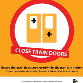 #BeTrainSmart CLOSE TRAIN DOORS. For your own safety make sure that the train d… 37858903 2587777721247798 7478524740877942784 o 320x320