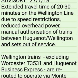 #Trainreport  #NorthernLineCT : Please note Wellington Line service changes. 37882323 2589916891033881 4795816317288448 n 320x320