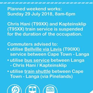 #CentralLineCT  – Planned Weekend Works :  Note Service changes on Sunday 29/7/… 37924823 2591725737519663 9141672962791833600 o 320x320