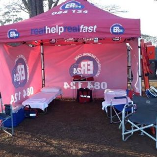 ER24 is providing medical support at Kearsney College in KZN for the Spur School… 38064073 1872298519498170 5431636421020483584 o 320x320