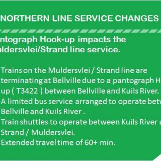 #NorthernLineCT : Trains on the Muldersvlei / Strand line are terminating at Be… 38085078 2597298943629009 8101445777919836160 n 320x320
