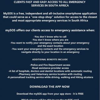 Netcare 911 has partnered with mySOS to offer fast and easy access to all emerge… 38164243 1900780426609751 2939295971785310208 o 320x320