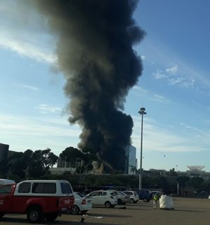 R30m damage caused by Cape Town train fire R30m damage caused by Cape Town train fire 300x320