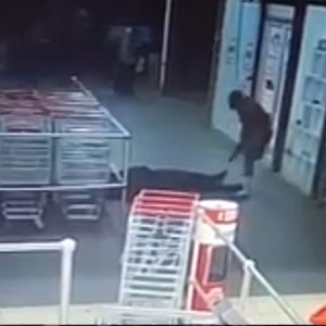 WATCH: Shoprite security guard shot at point-blank during store robbery WATCH Shoprite security guard shot at point blank during store robbery