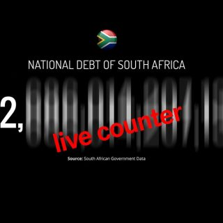 Live feed of SA national debt debt counter 320x320