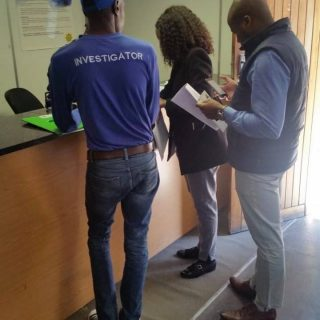 IRS investigator Ashley Mabasa opening a case at Honeydew SAPS earlier today. 40400298 2092532274111502 8068395098339016704 o 320x320