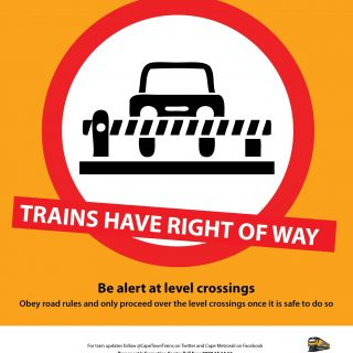 #BeTrainSmart TRAINS HAVE RIGHT OF WAY. Always be alert at level crossings. 40672679 2676563509035885 5120006508989382656 o 320x320