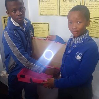 Young scientists get inspiration from #poweroutages : Jabulo Ndlovu + Vusi Musi,… 41598685 10155488260162121 274292112059531264 o 320x320