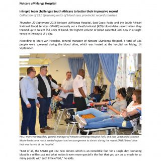 Netcare uMhlanga Hospital: Intrepid team challenges South Africans to better the… 42194189 1972137386140721 3176576018487967744 o 320x320