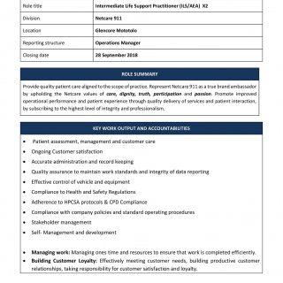 Vacancy: Intermediate Life Support Practitioner (ILS/AEA) Netcare 911 Glencoe Mo… 42200827 1973370459350747 2938343751765983232 o 320x320