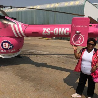 The ER24 Air Angels HEMS crews are going pink for the month of October to create… 42211116 1952066638188024 4269393574660931584 o 320x320