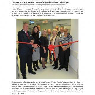 Netcare Olivedale Hospital – Johannesburg cardiovascular Centre refurbished with… 42730941 1981658278521965 2924795917380878336 o 320x320