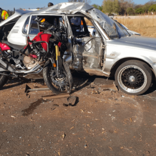 [CENTURION] – Motorbike crashes into car leaving three injured. – ER24 CENTURION     Motorbike crashes into car leaving three injured