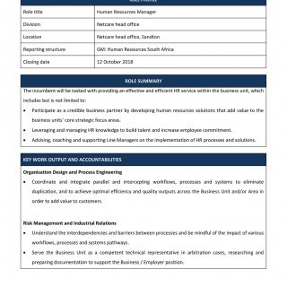 Vacancy: Human Resources Manager, Netcare Head Office, Sandton. 43197733 1989644094390050 2903833702427525120 o 320x320
