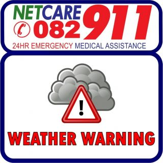 The South African Weather Service has issued a warning of severe thunderstorms t… 43828829 1999273790093747 96503693188268032 o 320x320
