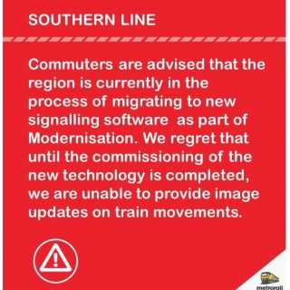 #CustomerNotice Commuters are advised that the region is currently in the proces… 43950086 2751257171566518 6284090414555201536 n 320x320