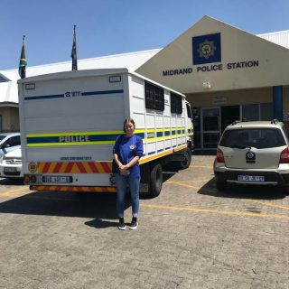IRS team leader Jess Littlewood at Midrand SAPS today after opening a fraud case… 44224935 2150286288336100 1927889211470381056 o 320x320