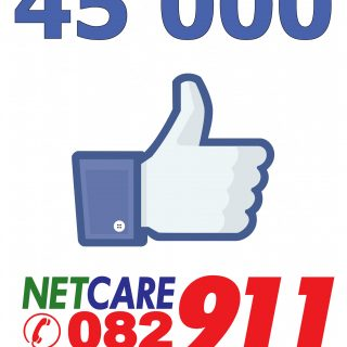 The Netcare 911 Facebook page has reached a whopping 45 000 likes, we would like… 44229676 2005249706162822 6142803634242453504 o 320x320