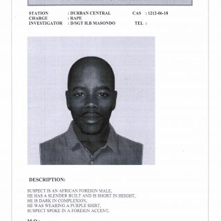 WANTED FOR RAPE  VIA SAPS  Durban Central Family Violence, Child Protection and … 44836563 2162161833815212 75341087945785344 o 320x320