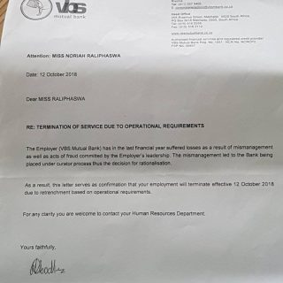 SHOCKING!  Noria Raliphaswa who worked for the VBS Mutual Bank for a full fiftee… SHOCKING Noria Raliphaswa who worked for the VBS Mutual Bank for a full fiftee 320x320