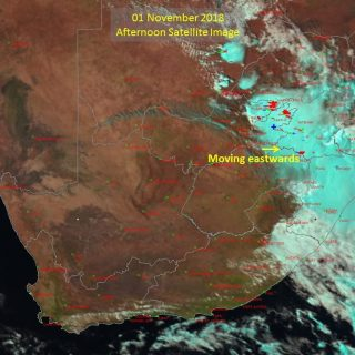 Afternoon satellite image. Thunderstorms over the eastern interior. 45179588 906995569503767 5038756731455275008 o 320x320