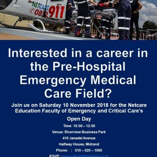 Interested in a career in the Pre-hospital Emergency Medical Care Field.  Netcar… 45224363 2029460597075066 3049885190609436672 o 320x320