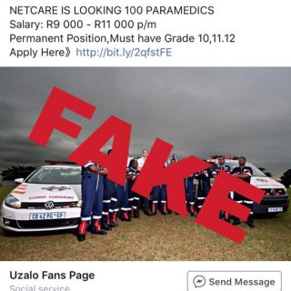 Netcare 911 would like to caution the public against responding to fraudulent si… 45404964 2033354936685632 2183382487898521600 o 320x320