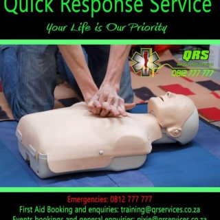 First Aid Training  QRS is offering a 2 day Level 1 First aid Course at QRS offi… 46108099 10155661365955759 1334542511774892032 o 320x320