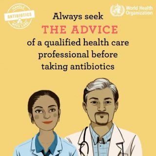Misuse and overuse of antibiotics put us all at risk of antibiotic resistance. T… 46315063 2045643872123405 3060771266257485824 o 320x320