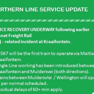 #NorthernLineCT : SERVICE RECOVERY UNDERWAY following earlier Transnet Freight R… 46348335 2823082984383936 9083909887498387456 n 320x320