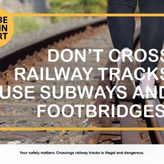 #MetroMatters Crossing railway tracks is illegal and dangerous. #BeTrainSmart #T… 46499118 2835626619796239 6281427921378738176 o 320x320