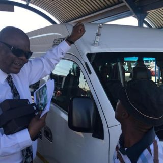 Our board Chairman Mr Zola Majavu engaging taxi drivers on the importance of roa… 46503510 1955862667829181 5243082477643235328 n 320x320