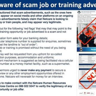 Netcare would like to caution people to be aware of scam job or training adverts… 46856836 2061170703904055 273203316375158784 n 320x320