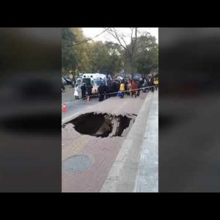 Woman swallowed by sinkhole that opened up beneath her feet Woman swallowed by sinkhole that opened up beneath her feet 320x320