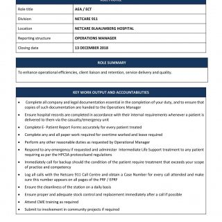Vacancy: Intermediate Life Support Practitioner (AEA/ILS) Netcare Blaauwberg Hos… 47476617 2074454439242348 6654901501296640000 o 320x320