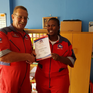 Congratulations to Mary Tjakata from ER24 Bethlehem on receiving her 10-year ser… 47495860 2058935160834504 4148395983631286272 n 320x320