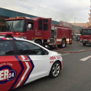 Fortunately, no-one sustained any injuries following a fire on Retief Street in … 47682218 2058869097507777 6107752839931494400 n 320x320