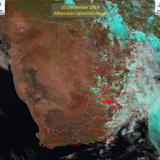 Afternoon satellite image (10 December 2018) – Thundershowers observed over the … 48053385 928422470694410 5940988184769855488 n 320x320